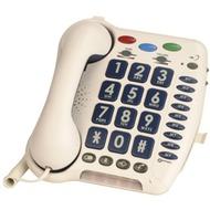 geemarc CL100 weiss Verstärkertelefon mit Hoch-/ Tieftonregelung