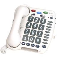 geemarc CL200+ weiss Verstärkertelefon mit Hoch-/ Tieftonregelung