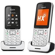 Gigaset SL450HX Duo, platin/ schwarz