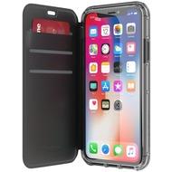 Griffin Survivor Clear Wallet, Apple iPhone X, schwarz/ transparent, TA43989
