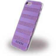 Guess 3D Effect Stripes Tribal - Silikon Cover - Apple iPhone 7 - Lila