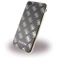 Guess 4G - Silikon Cover - Apple iPhone 7 Plus - Schwarz /  Gold