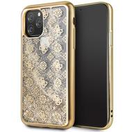 Guess 4G Peony Liquid Glitter Case - Apple iPhone 11 Pro - Gold - Cover - Schutzhülle