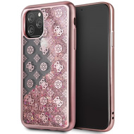 Guess 4G Peony Liquid Glitter Case - Apple iPhone 11 Pro Max - Pink - Cover - Schutzhülle