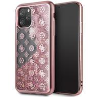 Guess 4G Peony Liquid Glitter Case - Apple iPhone 11 Pro - Pink - Cover - Schutzhülle