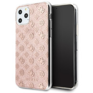 Guess 4G Peony Solid Glitter Case - Apple iPhone 11 - Pink - Cover - Schutzhülle