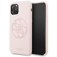 Guess 4G Silicon Collection Print Logo Case - Apple iPhone 11 Pro Max - Hellpink - Hard Cover - Schutzhülle