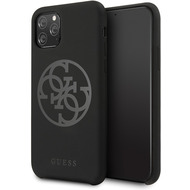 Guess 4G Silicon Collection Print Logo Case - Apple iPhone 11 - Schwarz - Hard Cover - Schutzhülle