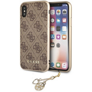 Guess Charms - Hardcover 4G - Apple iPhone X/ Xs - Braun