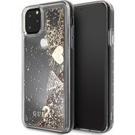 "Guess Hard Case - ""Hearts"" Glitter - Apple iPhone 11 Pro Max - Gold - Schutzhülle"