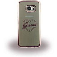 Guess Heart Silikon-Case für Samsung Galaxy S7 Edge, roségold