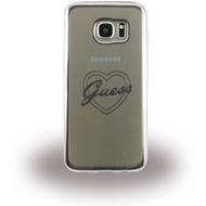 Guess Heart Silikon-Case für Samsung Galaxy S7 Edge, silber