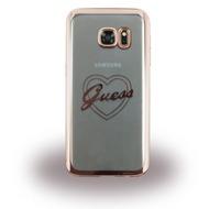 Guess Heart Silikon-Case für Samsung Galaxy S7, roségold