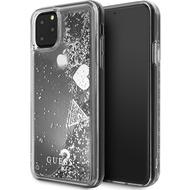 "Guess ""Hearts"" Glitter - Apple iPhone 11 Pro - Silber - Schutzhülle Cover - Hard Case"