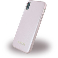 Guess Iridescent - Hardcover - Apple iPhone X - Rose Gold