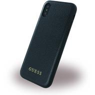 Guess Iridescent - Hardcover - Apple iPhone X - Schwarz