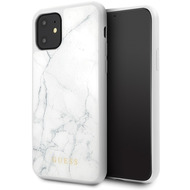 Guess Marble Collection - Apple iPhone 11 Pro Max - Weiss - Hard Case - Cover - Schutzhülle