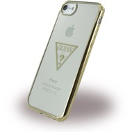 Guess Triangle - Silikon Case /  Handyhülle - Apple iPhone 6, 6s, 7 - Gold