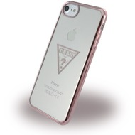 Guess Triangle - Silikon Case /  Handyhülle - Apple iPhone 6, 6s, 7 - Rose Gold