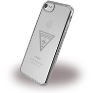 Guess Triangle - Silikon Case /  Handyhülle - Apple iPhone 6, 6s, 7 - Silber