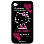 Hello Kitty Character Case Look für iPhone 4 /  4S, schwarz