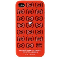 Hello Kitty Character Case Ribbon für iPhone 4 /  4S, rot