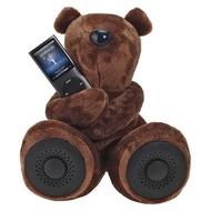 hi-Fun Hi-George Kuscheltier mit integrierten Lautsprechernm, dunkel braun