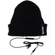 hi-Fun M�tzen Stereo Headset Hi-Hat Turn Up, schwarz