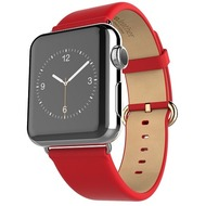 HOCO Genuine Leather Armband für Apple Watch 42mm, rot