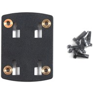 HR Auto-Comfort Adapterplatte mit Schraubgewinde für Brodit Handyhalter (4-Loch-Rastersystem)
