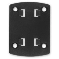 HR Auto-Comfort Adapterplatte mit HR 4-Loch-Raster-System f�r Brodit ProClip /  Kuda Konsole