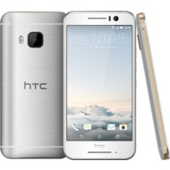 HTC One S9, gold on silver