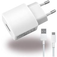 Huawei Netzteil /  Ladegerät /  Adapter + Ladekabel - USB - 2000mAh - Weiss