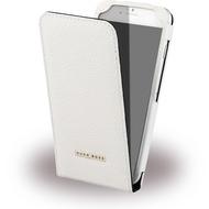 Hugo Boss Reflex - Leder Flip Cover - Apple iPhone 6/ 6s - Weiss