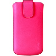 iCandy Echtledertasche FLASH für Samsung Galaxy S4, neonpink