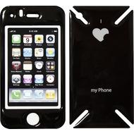 iCandy New Skin³ Gelschutz Love-Phone für iPhone 3G, schwarz