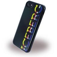 Iceberg Logo Color - Silikon Hülle - Apple iPhone 6/ 6s/ 7 - Schwarz