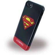 Iceberg Superman Logo - Silikon Hülle - Apple iPhone 6/ 6s/ 7 - Schwarz