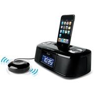 iLuv Dual Alarm Wecker für iPad /  iPhone /  iPod, schwarz
