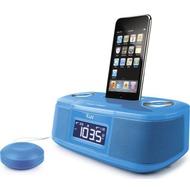 iLuv Dual Alarm Wecker für iPhone /  iPod, blau