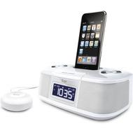 iLuv Dual Alarm Wecker für iPhone /  iPod, weiß