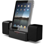 iLuv Stereo Lautsprecher Dockingstation für iPad /  iPhone /  iPod, schwarz