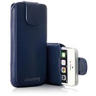 iMummy The Bolt - Automatic Case Echtleder für iPhone 5/ 5S/ SE, dunkelblau