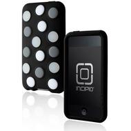 Incipio dotties für iPod touch 2G /  3G, schwarz mit grau-weißen Punkten