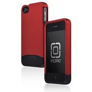 Incipio EDGE PRO für iPhone 4 /  4S, rot-chrom
