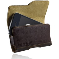Incipio Premium Leather Holster für iPhone, braun