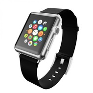 Incipio Premium Lederband Apple Watch 38mm Ebenholz (schwarz) WBND-001-EBNY