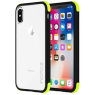 Incipio [Sport Series] Reprieve Case, Apple iPhone X, schwarz/ volt/ transparent