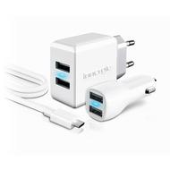 Innergie PowerTravel Plus - Dual-USB-Reiseladeset MicroUSB- weiß
