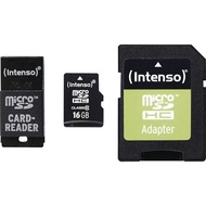 Intenso microSD Card Adapter Set - microSDHC, 16 GB + USB & SD Adapter